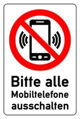 graphic and text bitte alle mobiltelefone ausschalten
