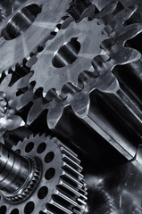 gears and cogs of titanium and steel