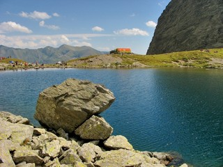 Mountain lake in Romanian Carpathian