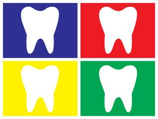 Quadro dente molare in diversi colori