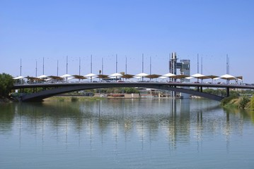bridge, Guadalquivir river, Seville, Andalusia, Spain