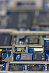 Cell Phone circuit board close up