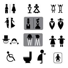 toilet signs vector set