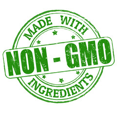 Made with Non - GMO ingredients stamp