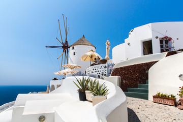 View of Fira town - Santorini island,Crete,Greece.