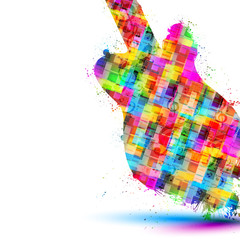Colorful music guitar background