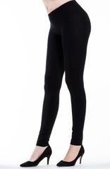 Woman legs with leggings
