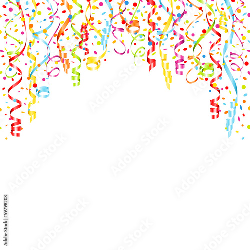 streamers confetti background stock image and royalty free vector