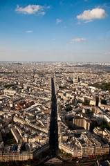 Landscape of Paris from the Montparnasse tower