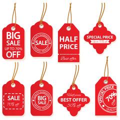 Sale labels set in vector.
