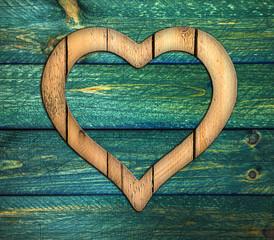 Heart frame border window wooden