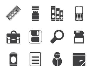 Silhouette Business and Office tools icons
