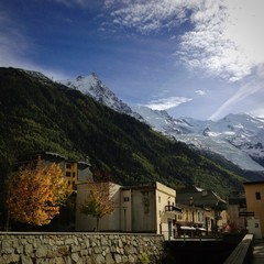 The Mont Blanc viewed from Chamonix