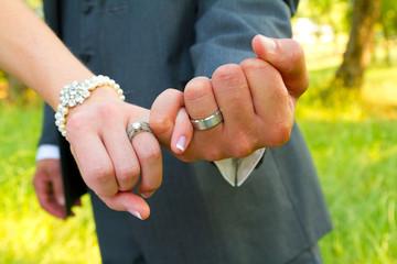 Pinky Swear Wedding Rings