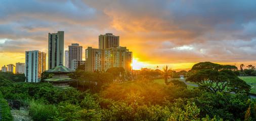 Sunset at Waikiki, Oahu, Hawaii
