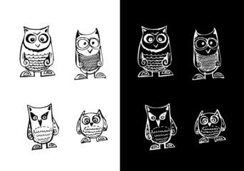 Bird collection illustration