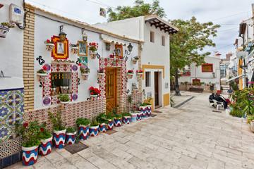 Colourful building in Alicante, Spain