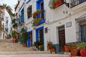 Picturesque street in Alicante , Spain