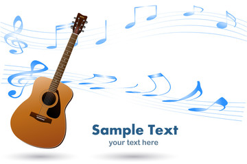 Acoustic Guitar Musical Background