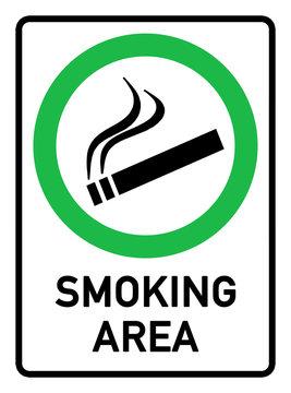 English Signs E290 - smoking area