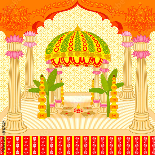 Vector illustration of indian wedding mandap stage stock image vector illustration of indian wedding mandap stage junglespirit Gallery