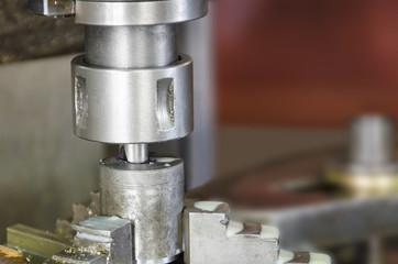 Drill milling machine closeup.