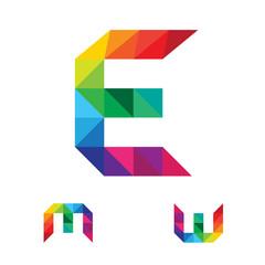 E M W Letter Logo