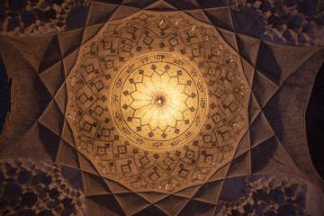 Cupola in Imam mosque in Kerman, Iran Wall mural