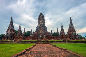 Wat Chaiwatthanaram temple in Ayutthaya, Thailand