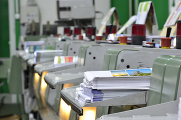 Magazine production line into press plant house.