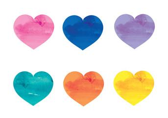 color watercolor heart