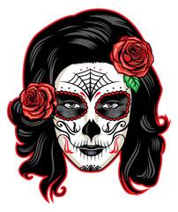muerte girl face