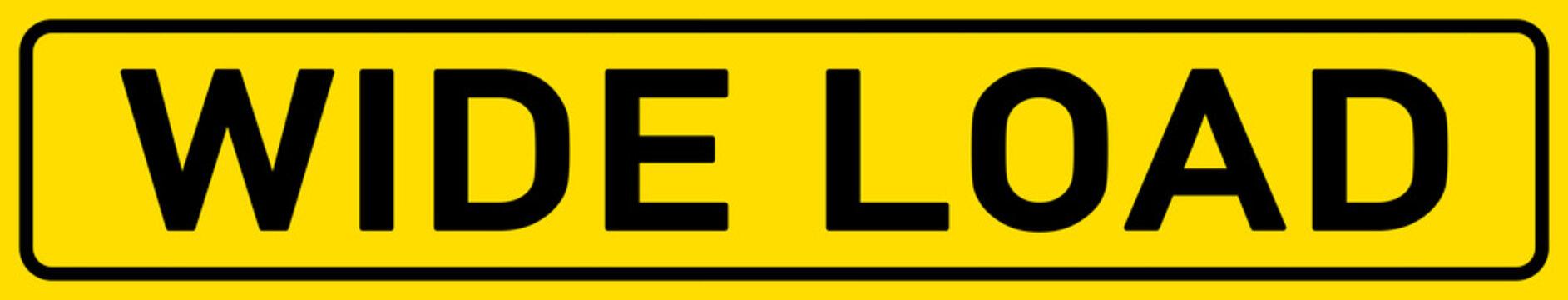 English Signs E300 - Wide Load