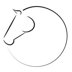 Koń symbol wektor