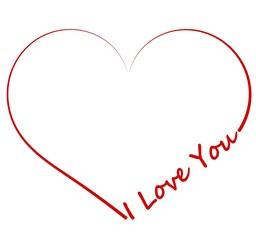 Fototapeta Miłość serce vector obraz