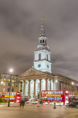 London, Trafalgar Square with St. Martin on Fields