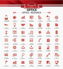 Set of web icons for office business