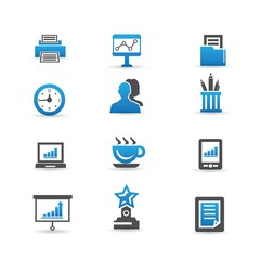 Office and business icons,vector