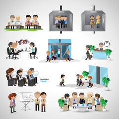 Business Peoples - Isolated On Gray Background