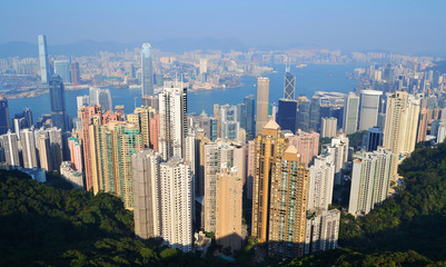 Hong Kong Skyline Birds eye View