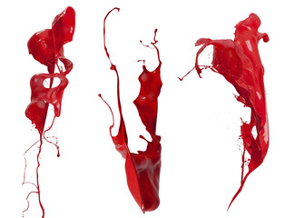 red  paint splash collection