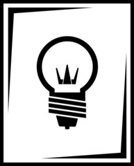 icon with black light bulb silhouette