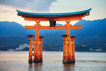 Great floating gate (O-Torii) at Miyajima Wall mural