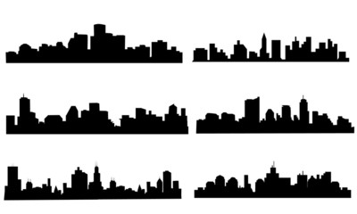 City Skyline Set - Vector