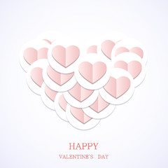Vector valentines day background. Eps10