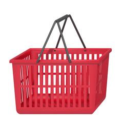 shopping basket on a white background