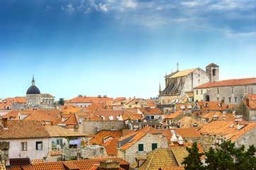 tiled roofs of the old town