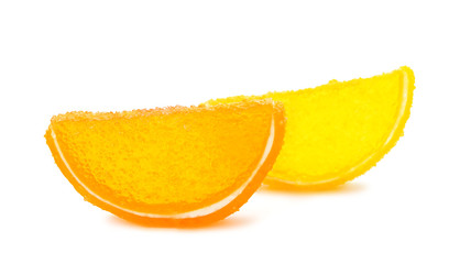 jelly slices isolated