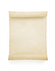 parchment scroll on white