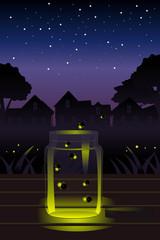 Fireflies in the jar